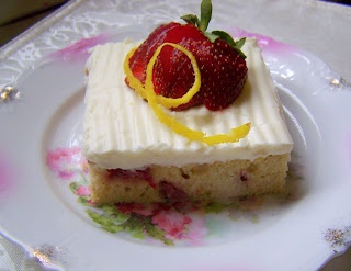 Strawberry banana bars with cream cheese frosting
