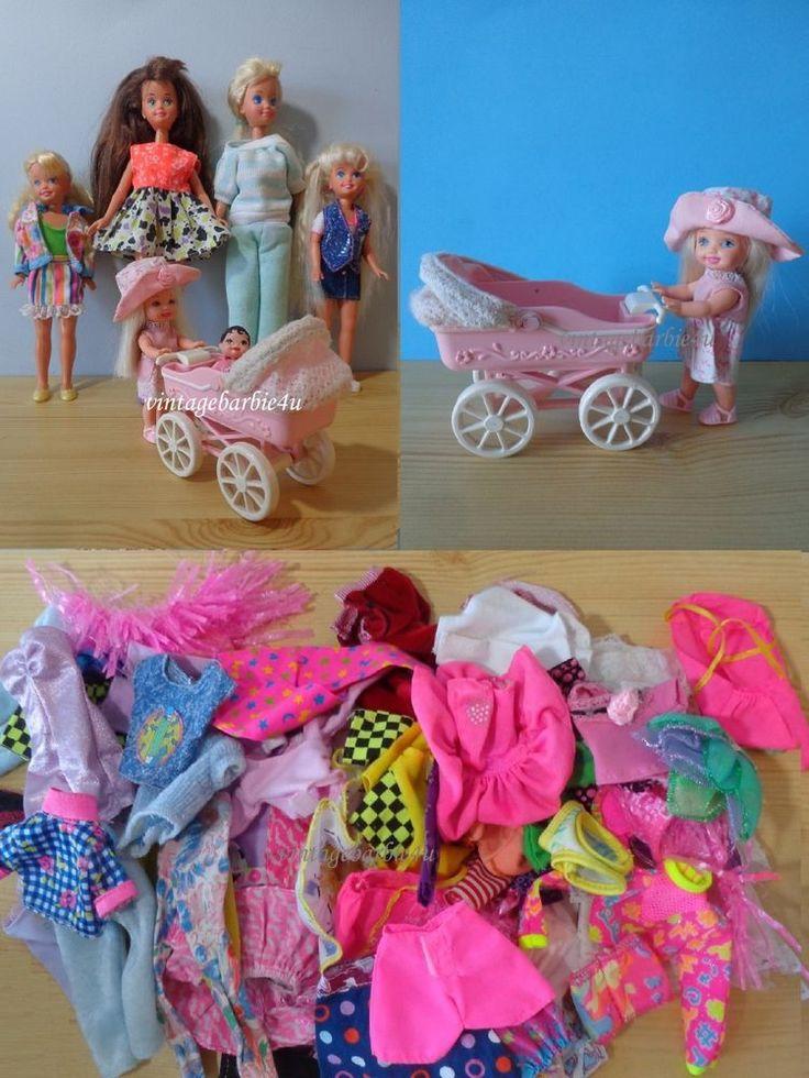 Barbie Doll & Clothes Lot ~ Kelly Tiny Steps, Krissy, Skipper, Stacie…