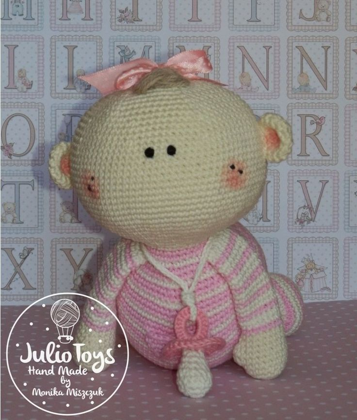 crochet baby girl by Julio Toys