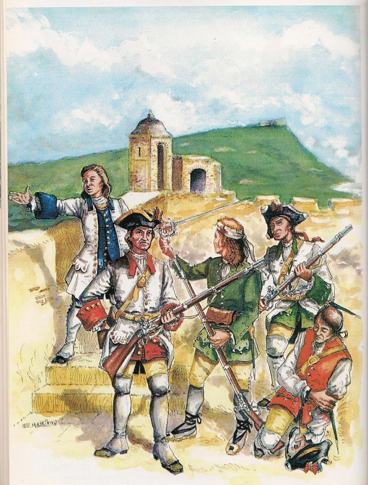 Tropas en Cartagena de India 1741