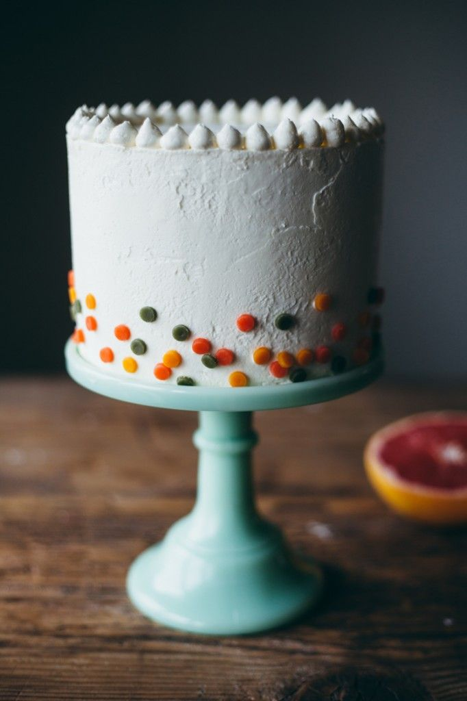 citrus confetti cake and an an interview with @mollyyeh ^__^
