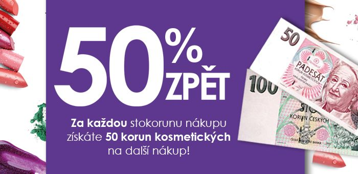 Nakupte a získejte 50% zpět na příští nákup kosmetiky. Akce platí až do 17. 11. v prodejnách Dermacol. #dermacol #akce #kosmetika #bankovka #dermacolcz #50zpet #50%zpet #50kc #50korun #DermacolOfficial | http://blog.dermacol.cz/clanky/rozdavame-zase-bankovky/