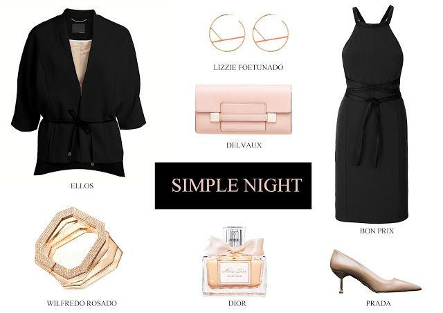 Simple Night il nero abbinato al rosa | Beautiful Curvy