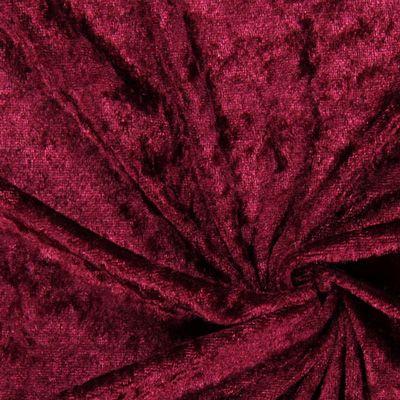 Pannefluweel 16 Art-Nr.: 05_100060_5020_r_154 Materiaal: 100% Polyester Kleur: bordeauxrood Lengte: 50 cm Breedte: 150 cm Grootte van de afbeelding: Hoogte: 15 cm  Breedte: 15 cm  Gebruik: Avondkleding, Vrijetijdskleding, Carnaval, Jurken, Accessoires Kussens, Dekens Productie- wijze: gewerkt Grip: soepele val, zachte grip
