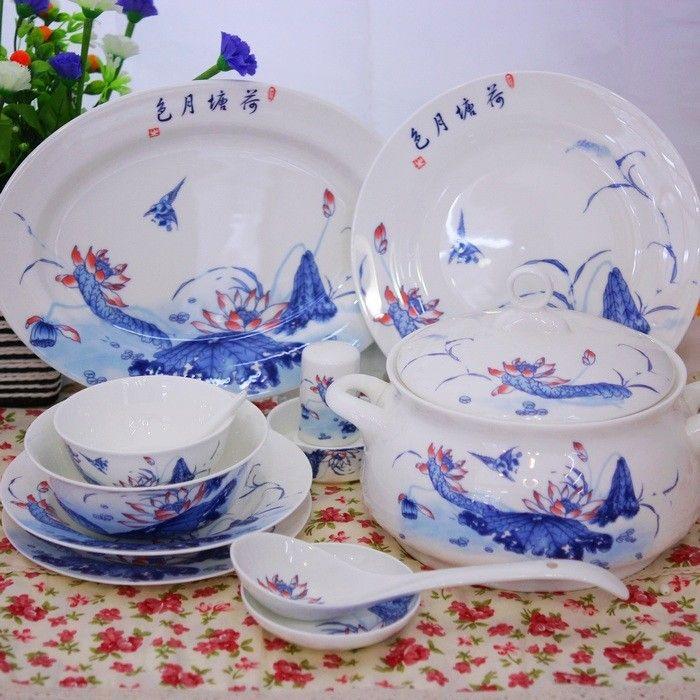 Bone China Tableware Set 56 Skull Porcelain Of Jingdezhen Ceramics