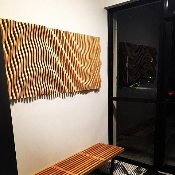 Wood Wall Art Parametric Sculpture Wood Sculpture Modenr