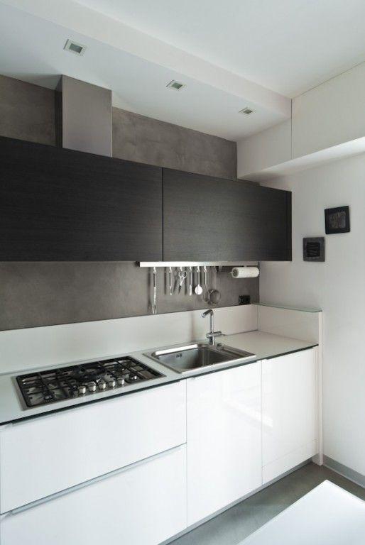 Rivestimento resina cucina cerca con google davinci pinterest kitchens interiors and modern - Parete cucina resina ...