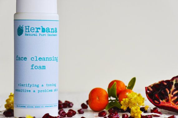 Foaming Face Wash, Facial Washer, Foam Cleanser, All skin types, Acne Skin, Problem Skin, Purifying, Mild Wash Foam by HerbanaCosmetics  A mild cleanser for all skin types deep-cleans pores, removes excess oils, and clears surface impurities leaving the skin feeling refreshed. Sulphate-free formula Hydrates your skin while delicately removing all traces of make-up and surface impurities Natural plant extracts are at the heart of the water-activated mousse formula's purifying and soothing…