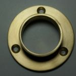 CLOSED END CLOSET ROD FLANGE @Signaturethings Closet Rod Flanges   Closed End Brass Flanges   Curtain Rod Flanges This durable and practical brass closet rod flange provides stylish and sturdy hanging storage space for clothing in bedroom closets. #Signaturethings #closetrod #CurtainRod #BrassRods #ClosetHardware #DraepryHardware #Curtains #Accessories #BrassHardware #Flanges #Flange