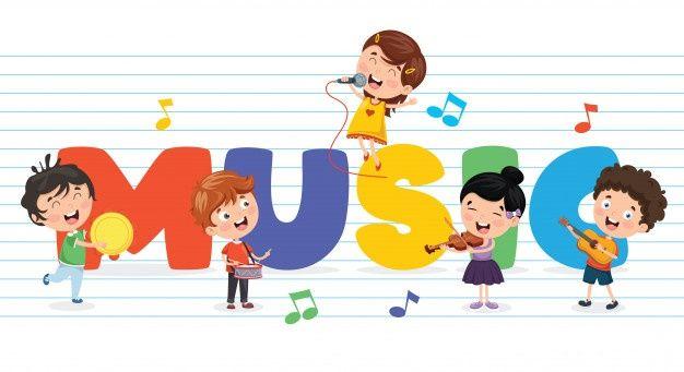 Vector Illustration Of Children Music Background Music For Kids Music Backgrounds Children Illustration