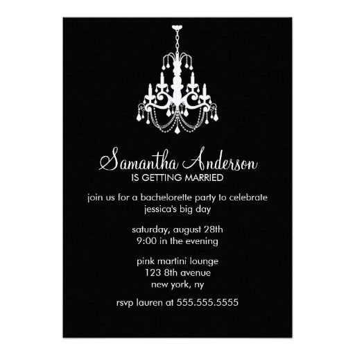 105 best chandelier birthday theme images on pinterest chandelier chandelier bachelorette party invitations stopboris Image collections