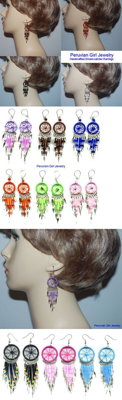 Earrings 98505: 20 Dreamcatcher Earrings Dangle Peruvian Exotic Jewelry BUY IT NOW ONLY: $30.23