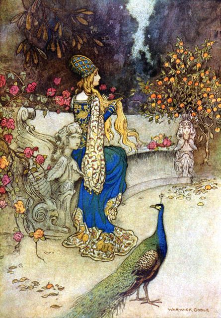 Preziosa: Il Pentamerone (The Story of Stories by Giambattista Basile) - The She-Bear.Illustration by Warwick Goble
