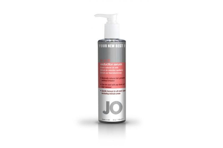 JO Lubes JO Hair Reduction Serum - 4oz - Tame unwanted hair with JO Hair Reduction Serum. This daily use serum slows hair growth and makes hair lighter and thinner in just 2 weeks. Perfect for legs, underarms, face, body and intimate areas.