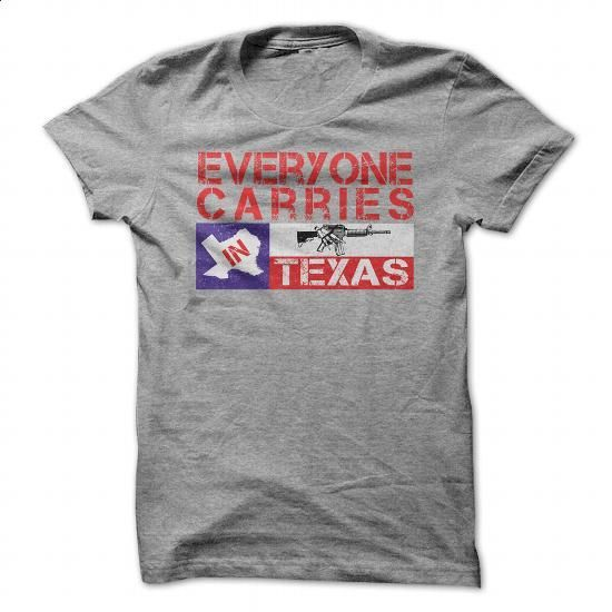 Everyone Carries In Texas Gun Rights T-shirt - #shirt #custom sweatshirt. PURCHASE NOW => https://www.sunfrog.com/Political/Everyone-Carries-In-Texas-Gun-Rights-T-shirt-SportsGrey-50764111-Guys.html?60505