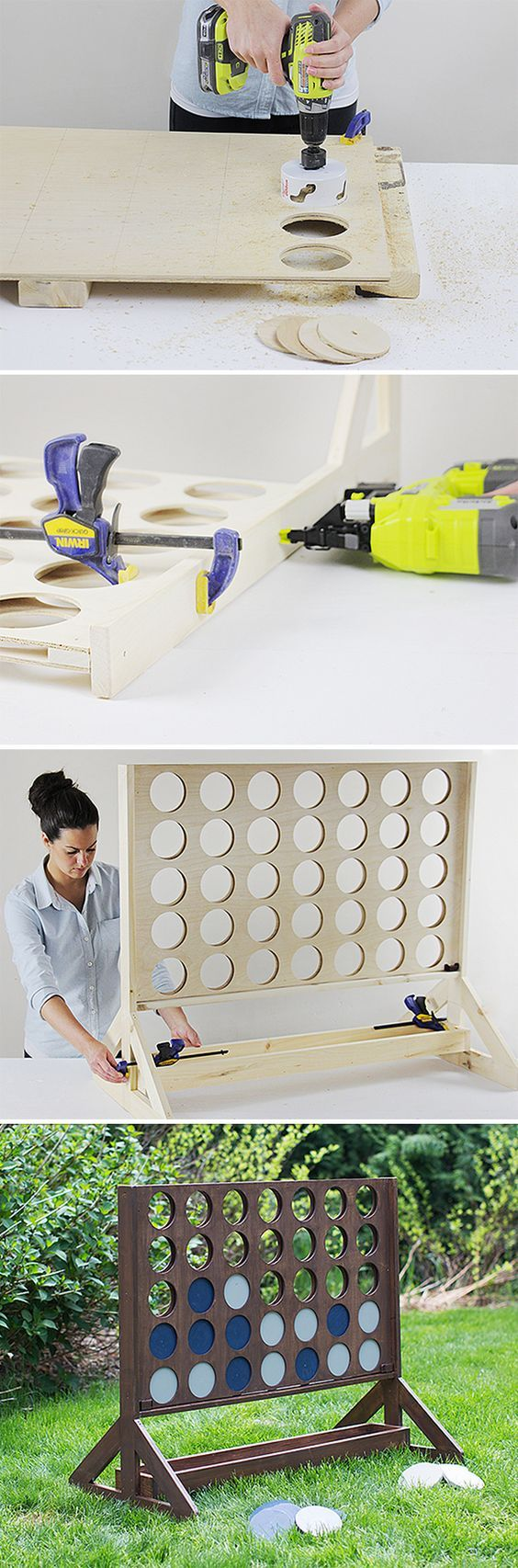 Connect Four ~ Build a giant backyard four in a row game | Andrea's Notebook