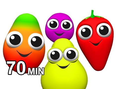 Fruit Songs & Vegetables Rhymes | Learn Names of Fruits | Children's English ESL | Busy Beavers - YouTube