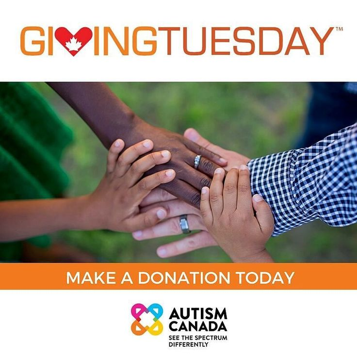 Today is #GivingTuesday. Support Autism Canada's national #autism initiatives by making a donation.  Donate $20 or more to receive an automatic tax receipt (link in bio).