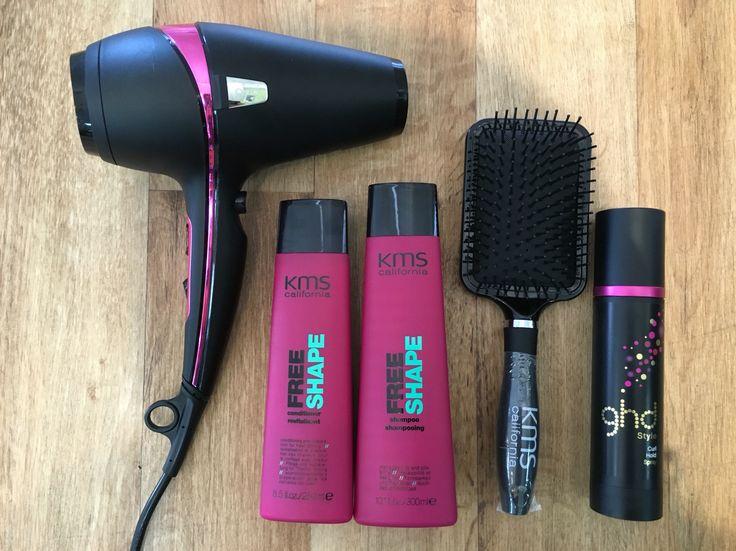 KMS Free Shape GHD Air Pink GHD Curl Hold Spray Uptown Hair Studio Stockist