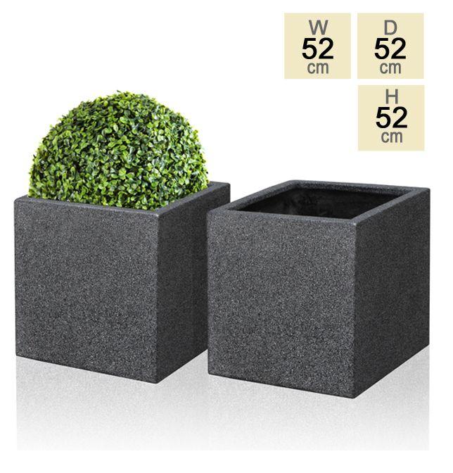 Black Poly-Terrazzo Cube Planter – Set of 2 - H52cm £159.99