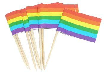 RAINBOW FLAG TOOTHPICKS(100 BOX) - Rainbowdepot - Rainbow Depot