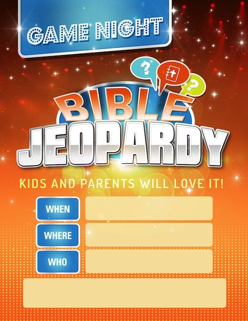 Printable Bible Jeopardy Game. Awesome for Sunday School ...