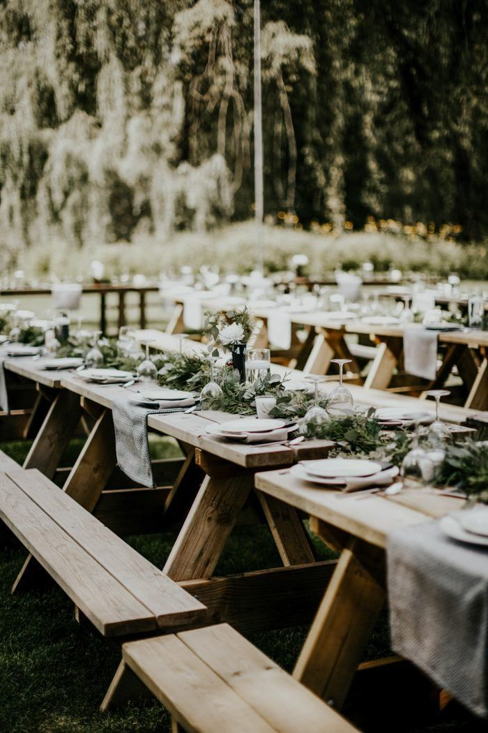 40 Picnic Wedding Reception Ideas Worth Stealing Picnic Table