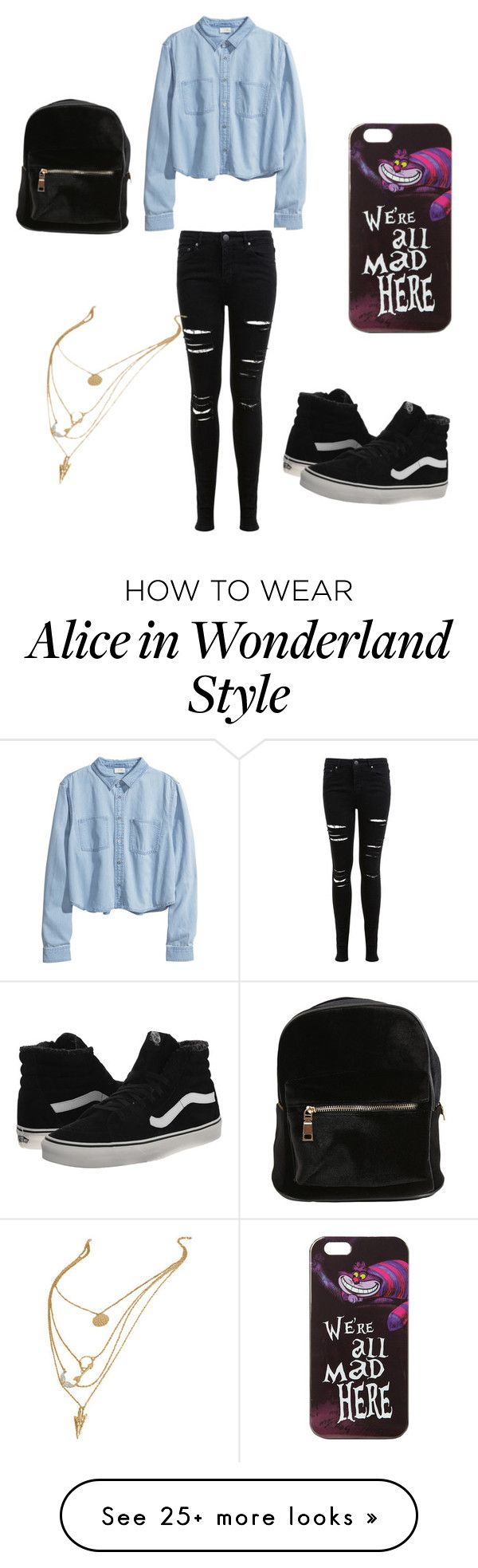 """""""Untitled #34"""" by anasanchez2 on Polyvore featuring H&M, Miss Selfridge, Vans and Disney"""