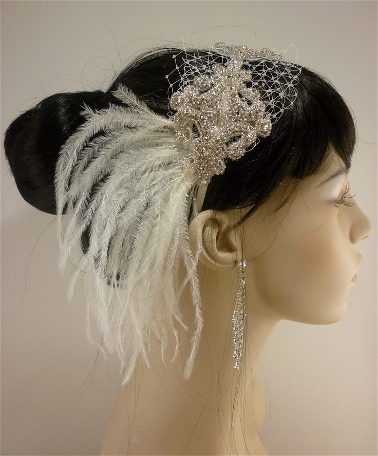 Wedding Headband, Wedding Hair Accessory , Bridal Hair Accessory, Rhinestone Headband, Hollywood Royalty. $85.00, via Etsy.