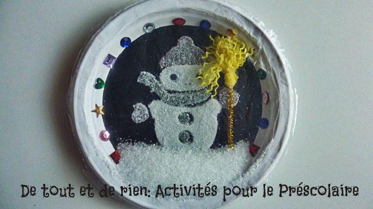 De tout et de rien: Activités pour le Préscolaire: Ah! Comme la neige a neigé! Ma vitre est comme un jardin de givre! (Émile Nelligan)