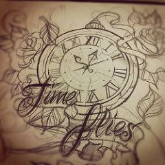 Time flies tattoo design sketch #time #timeflies #tattoo #sketch | Flickr - Photo Sharing!