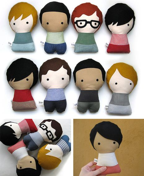 Bonecos de pano: Personalized Stuffed, Craft, Fabric Dolls, Citizenscollectible, Diy, Citizens Collectible, Kid