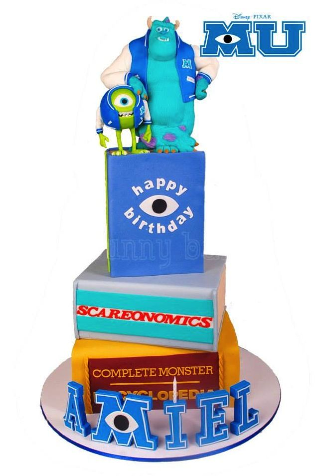 Monsters University Cake - For all your cake decorating supplies, please visit craftcompany.co.uk