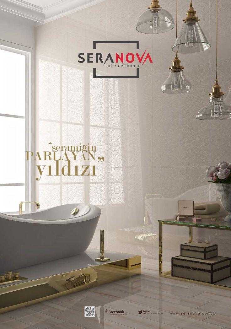 Güzel bir banyo dekorasyonu oluşturmak için ilk önce yer ve duvar karosu belirlemeniz gerekir. En güzel karolarımız için bayilerimize gelebilirsiniz. #seranova #seramik #dekorasyon #tasarım #banyo #bathroom