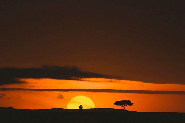 AMAZING shot during Maureen + Chad's Kenyan honeymoon + safari <3