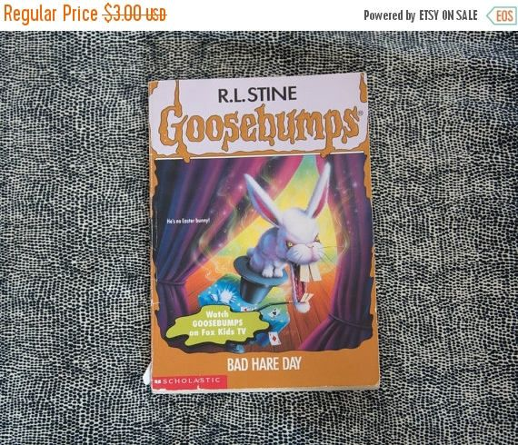 ON SALE Goosebump by R.L Bad Hare Day #41 Paperback book. 90s Goosebump Kids Horror Story book.
