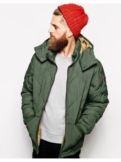 Element Quilted Parka - Green