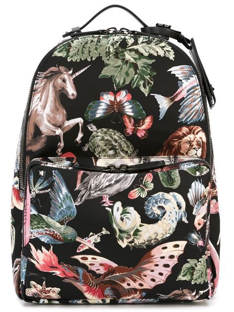 Shop Valentino Garavani Animal Print Backpack In O From The Worlds Best Independent Boutiques At