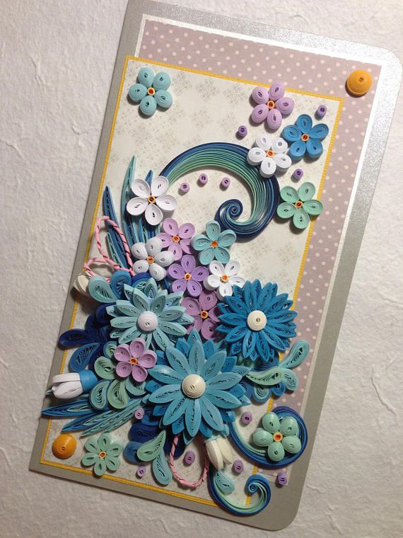 Quilling Card. Greeting Card Handmade. Birthday Card. Quilled