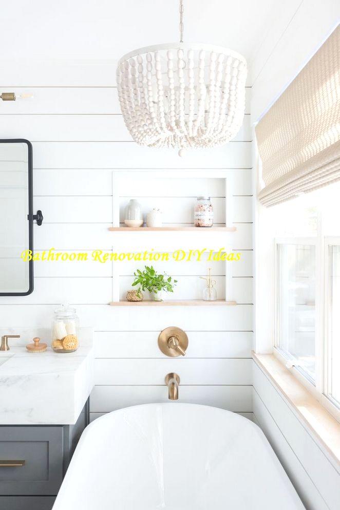 15 Diy Ideas For Bathroom Renovations In 2020 Shiplap Bathroom Bathrooms Remodel Minimalist Bathroom