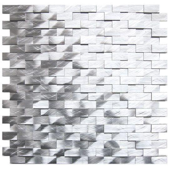 3D Raised Brick Pattern  aluminium alloy mosaic kitchen mosaic metal mosaic D2F-15303 - ICON2 Luxury Designer Fixures  3D #Raised #Brick #Pattern # #aluminium #alloy #mosaic #kitchen #mosaic #metal #mosaic #D2F-15303