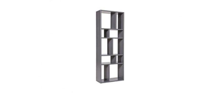 Libreria design compartimentée in legno grigio CASYM