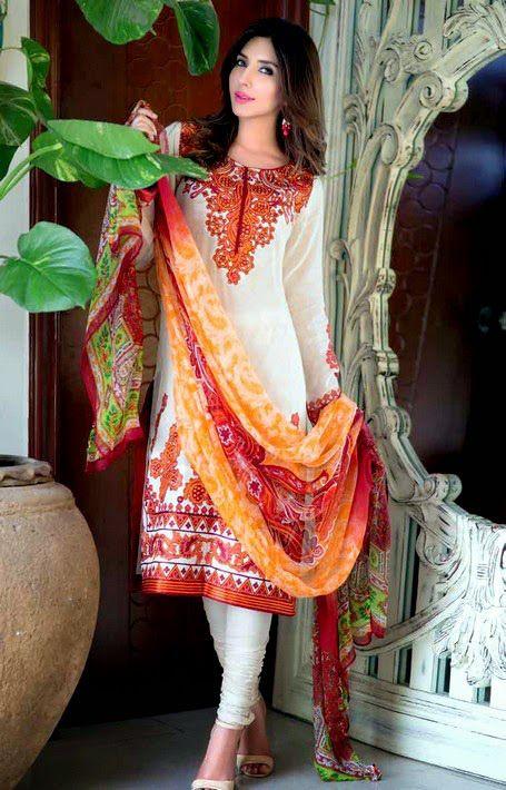 Gul Ahmed Lawn Dresses 2015 For Eid (3)