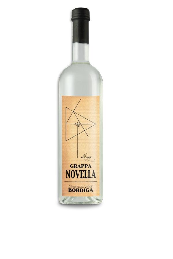 Etichetta Grappa linea Alkemya - Novella