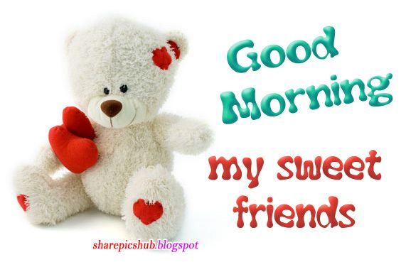 good morning posts for facebook | cute teddy good morning ...