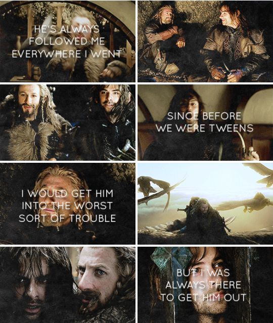 """""""...and now he's gone."""" Merry's quote about Pippin (in LotR), and oh how it fits Fíli and Kíli... *cries*"""