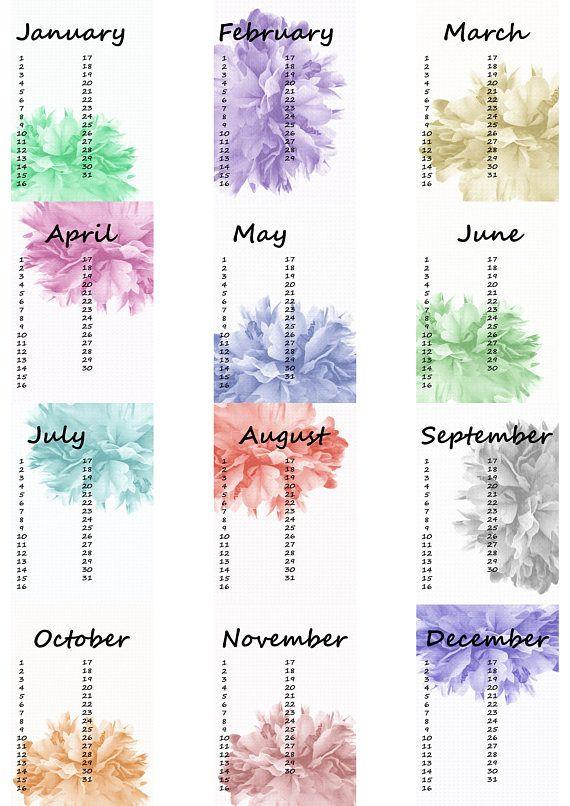 Birthday Calendar Calendar Birthday Calendar Birthday