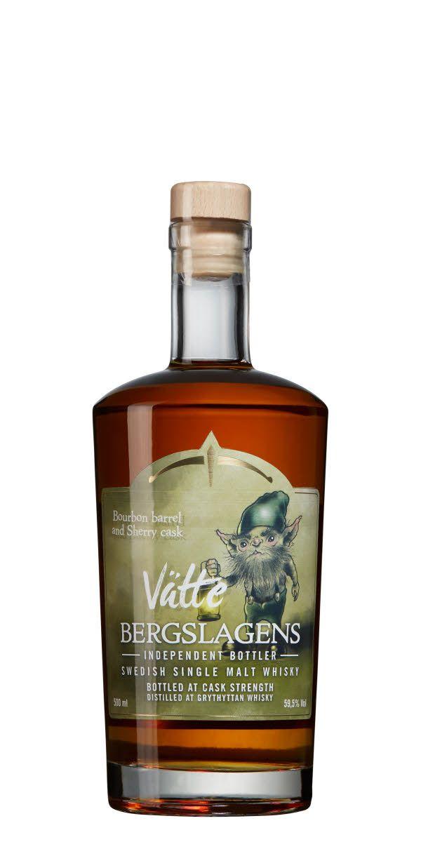 Vätte, label by David Cederlöf. Whisky by Bergslagens Destilleri