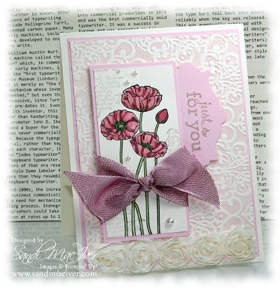 Pleasant Poppies, Embossed Background 2 by SandiMac - Cards and Paper Crafts at Splitcoaststampers