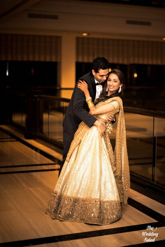 Love this, she invested in one lehenga that she wore for wedding and reception. Just because he changes doesn't mean I have to.